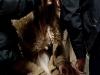Filmset zum Dreh eines 3-D Horrorfilmes mit Melanie Winiger am 06.11.2010 in Schlossrued auf Schloss Rued. Das Double von Melanie Winiger beim Schminken.