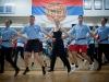 Jugendliche und Erwachsene im Serben-Club KOLO in Neuenhof bei Baden am 12.11.2010 während ihres Training mit Volsktänzen. An diesem Abend konnten die Jugendlichen eine interne Abstimmung zur Ausschaffungsinitiative machen.